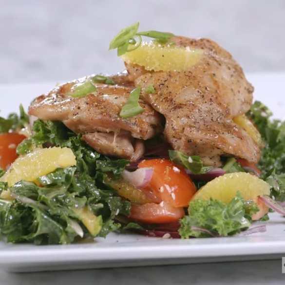 Chef Robert Irvine's Kale & Citrus Chicken Salad