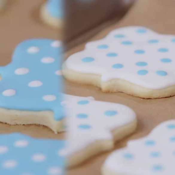 Royal Icing Sugar Cookies for a Classic Wedding