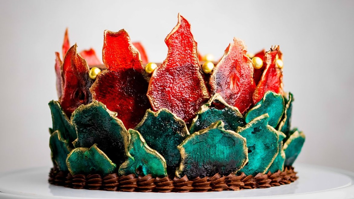 """How to Make Plant Based Chocolate """"Ganache""""- Candied Fruit Art"""