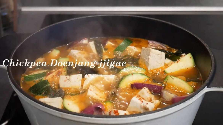 Chickpea doenjang jjigae