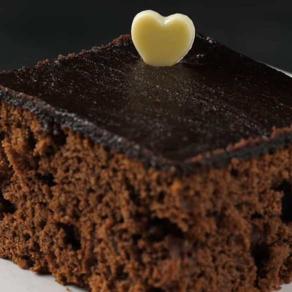 Easy Chocolate Cake with Plum Jam
