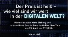 Online Live-Talk mit Bestsellerautor Marc Elsberg und Internetikone Sascha Lobo