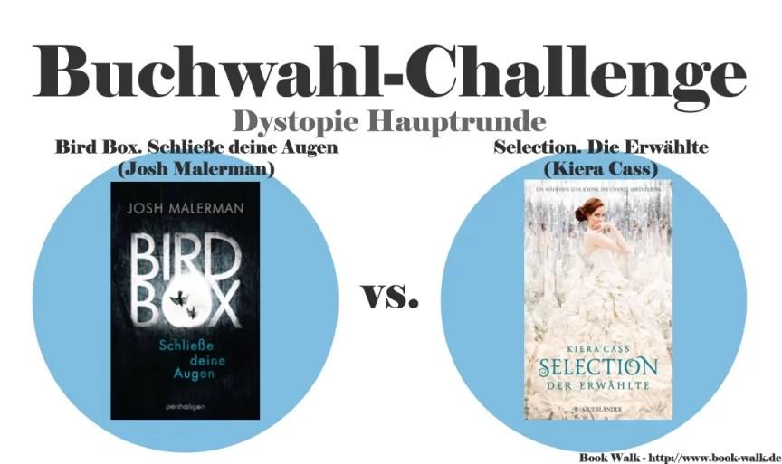 Bird Box. Schließe deine Augen (Josh Malerman) vs. Selection. Die Erwählte (Kiera Cass)