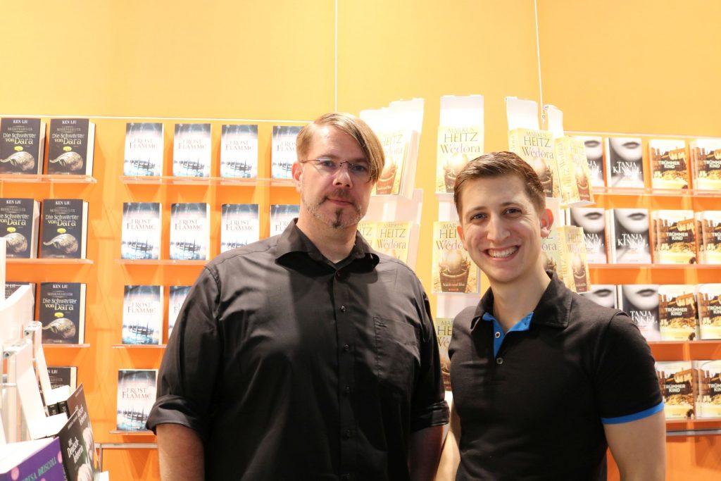 Markus Heitz und ich am Droemer Knaur Verlagsstand
