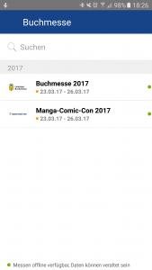 App der Leipziger Buchmesse 2017 (Screenshot)