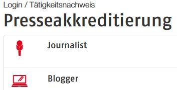 Presseakkreditierung - Journalist oder Blogger?