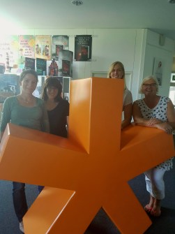 v.l.n.r.: Caroline Gros, Andrea Neuhoff, Katharina Ilgen und Barbara Claussen (c) Droemer-Knaur Verlag
