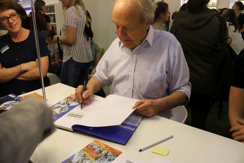 Jean-Claude Mézières signiert auf der Frankfurter Buchmesse 2017