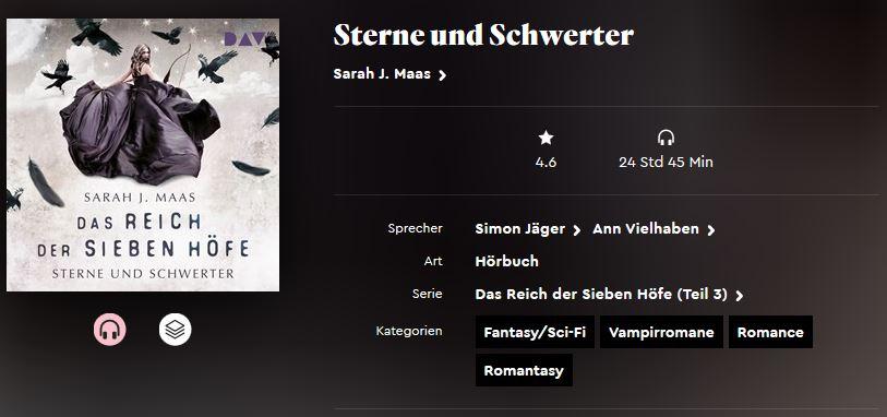 Das Reich der sieben Höfe #3. Sterne und Schwerter von Sarah J. Maas