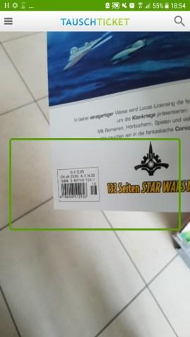 ISBN Nummer direkt über die App scannen