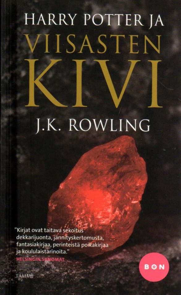 Finnish: Harry Potter ja viisasten kivi (1998). (c) Gyldendal