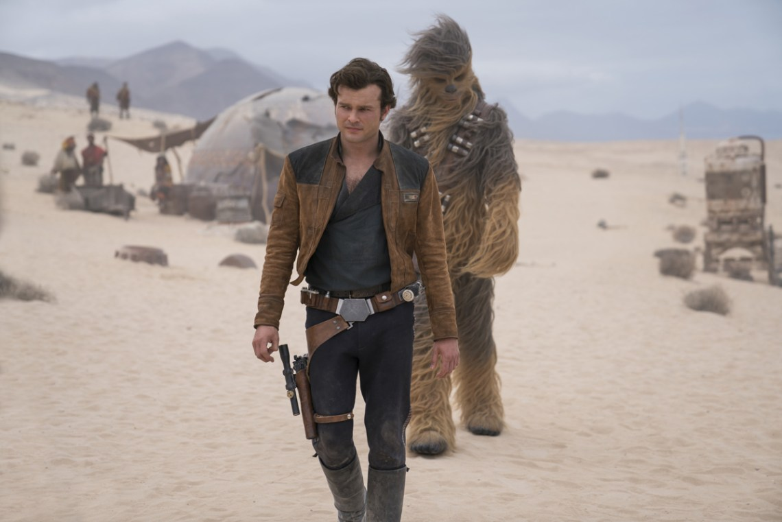 Alden Ehrenreich is Han Solo and Joonas Suotamo is Chewbacca in SOLO: A STAR WARS STORY. Copyright: 2018 Lucasfilm Ltd., All Rights Reserved.