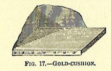cushion for gold leaf