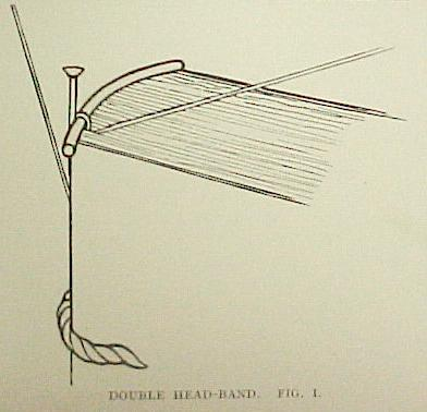 bookbinding beginning sewing double headband