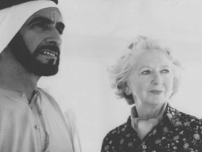 lesley blanch with sheikh zaid