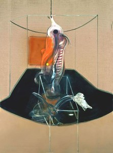 Francis Bacon 'Carcass of Meat and Bird of Prey' 1980