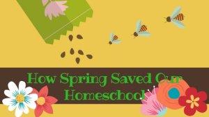 How Spring Saved My Homeschool
