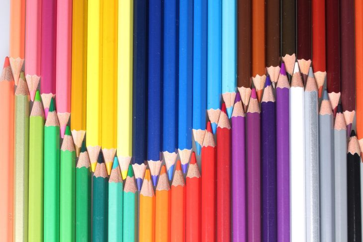 Coloured pencils stock photo