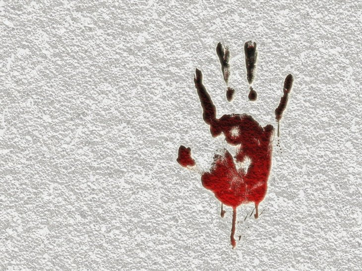 Bloody hand image