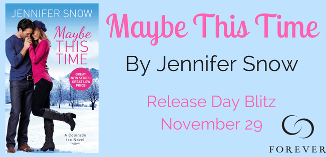 {Mini Review+Excerpt+Giveaway} MAYBE THIS TIME by @JenniferSnow18 @ForeverRomance