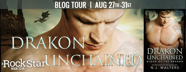 {Review+Giveaway} DRAKON UNCHAINED by N.J. Walters