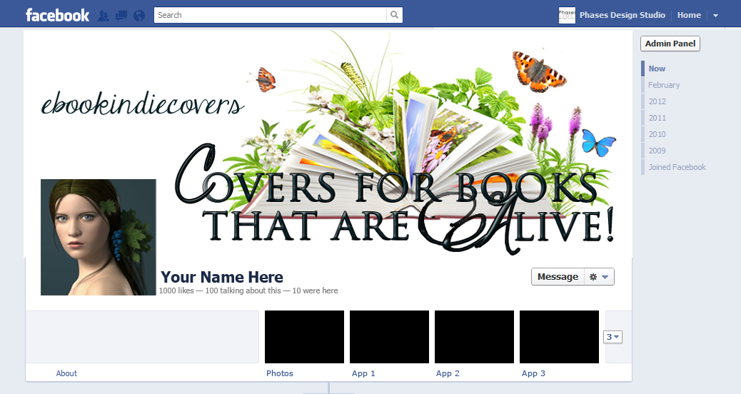 Facebook Timeline Cover Sample  BookcoverscreTive Book Cover Design