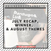 Feature: Instagram Photo Challenge #SignedBookSundays – August Themes & July Highlights!