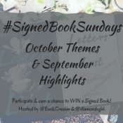 Feature: Instagram Photo Challenge #SignedBookSundays – October Themes & September Highlights