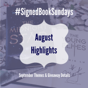 Feature: Bookstagram Photo Challenge – #SignedBookSundays September Themes & Giveaway