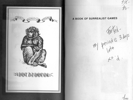 A Book of Surrealist Games by Alastair Brotchie