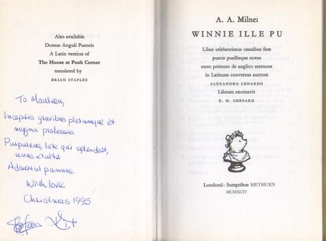 Winnie Ille Pu by A.A.Milne - Translated into Latin by Alexander Lenard