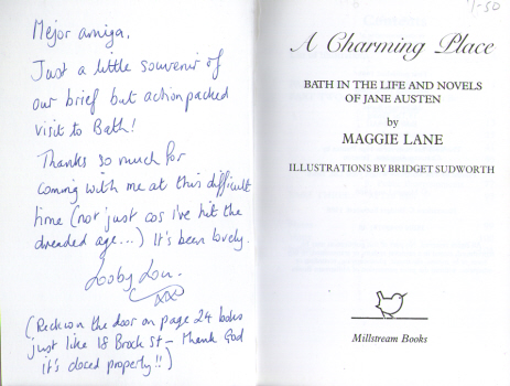 A Charming Place - Bath in the Life and Novels of Jane Austen by Maggie Lane