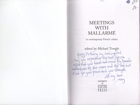 Meetings with Mallarmé in contemporary French culture edited by Michael Temple