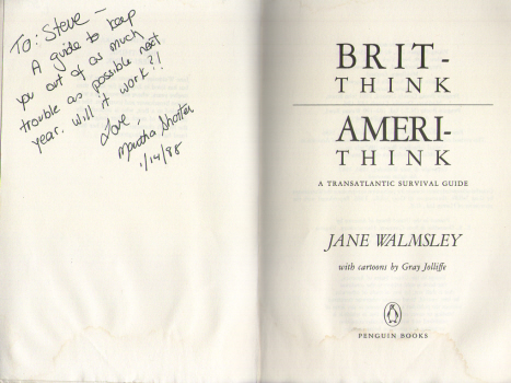 Brit-Think, Ameri-Think by Jane Walmsley