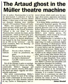 Theatremachine by Heiner Müller - translated & edited by Marc von Henning 1