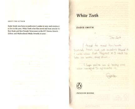 White Teeth by Zadie Smith 3