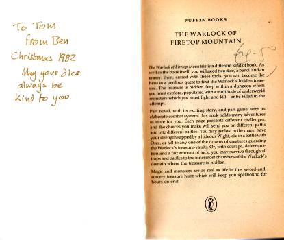 The Warlock of Firetop Mountain by Steve Jackson & Ian Livingstone 4