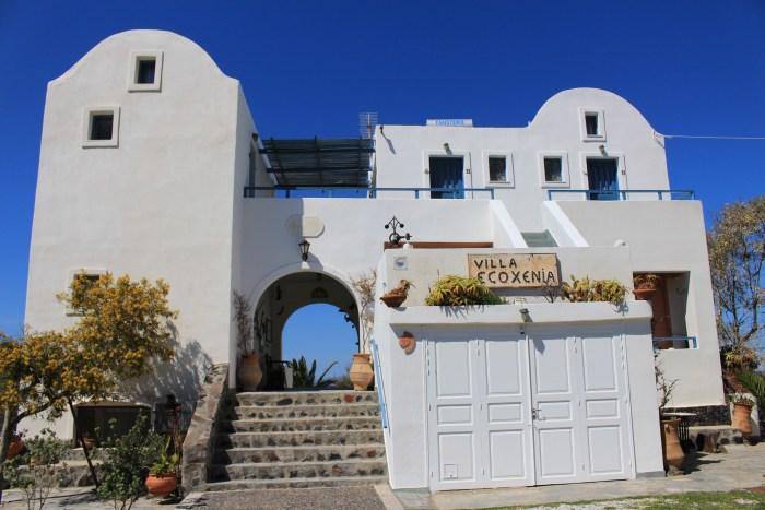 Affordable white stone villa in Santorini, Greece
