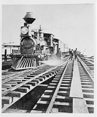 First Central Pacific Train locomotive used to enter Oakland, CA., Nov. 8, 1869. Historic American Buildings Survey, Library of Congress, Prints and Photographs.
