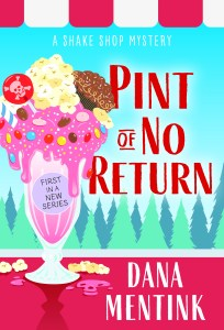 A colorful illustrated book cover with an ice cream sundae