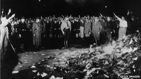 Bookburning episode in Germany 1933