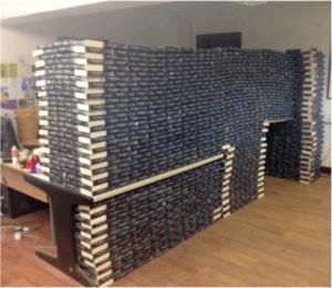 50 shades wall