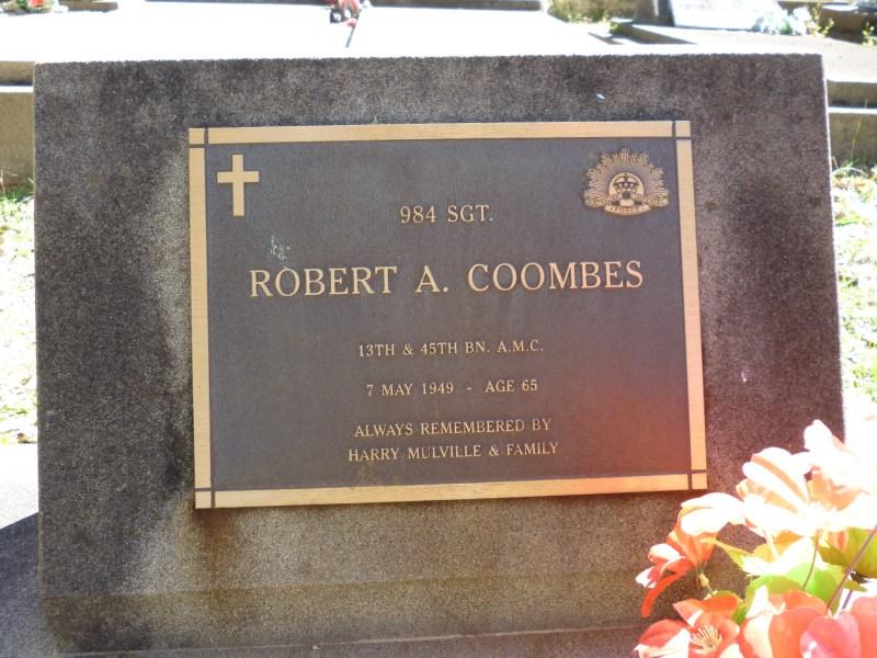 robert coombes headstone