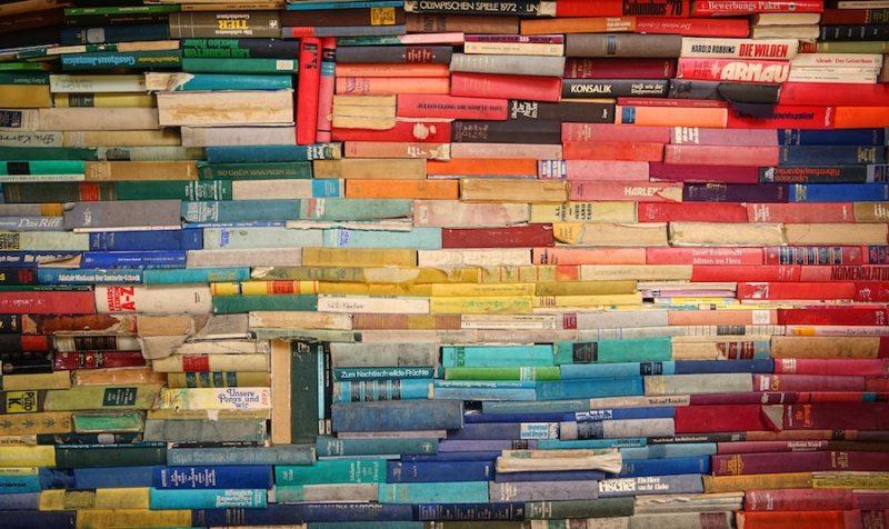 Piles of unread books