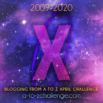 LetterX with text A2Zchallenge 2020