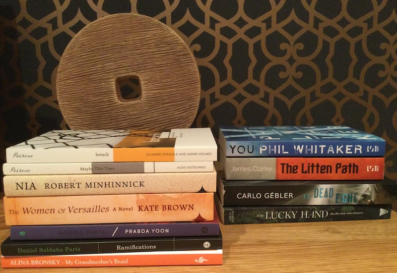Selection of books by independent publishers to read for #ReadIndies month