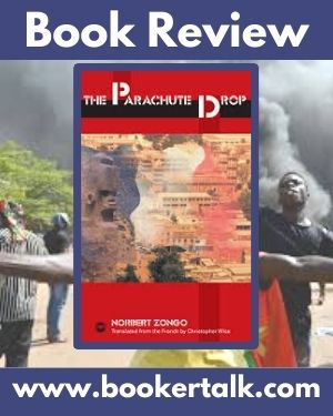 Cover of The Parachute Drop by Norbert Zongo, a novel which portrays the turmoil of a West African military coup