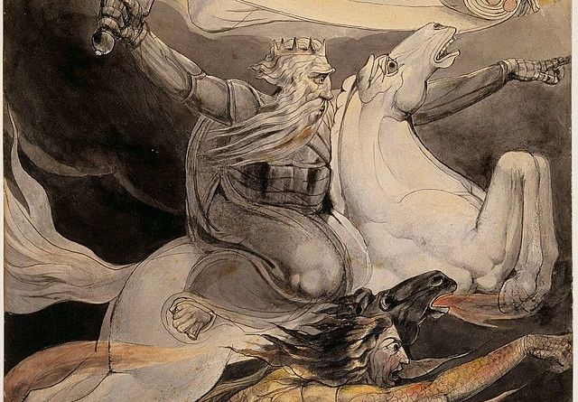 Death On A Pale Horse by William Blake, inspiration for Agatha Christie's novel, The Pale Horse