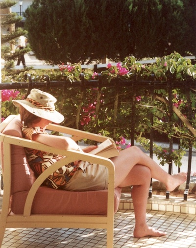 A quiet afternoon on a balcony, a time to catch up with some holiday reading