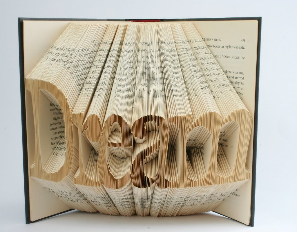 Custom Letters Or Numbers Folded Book Art
